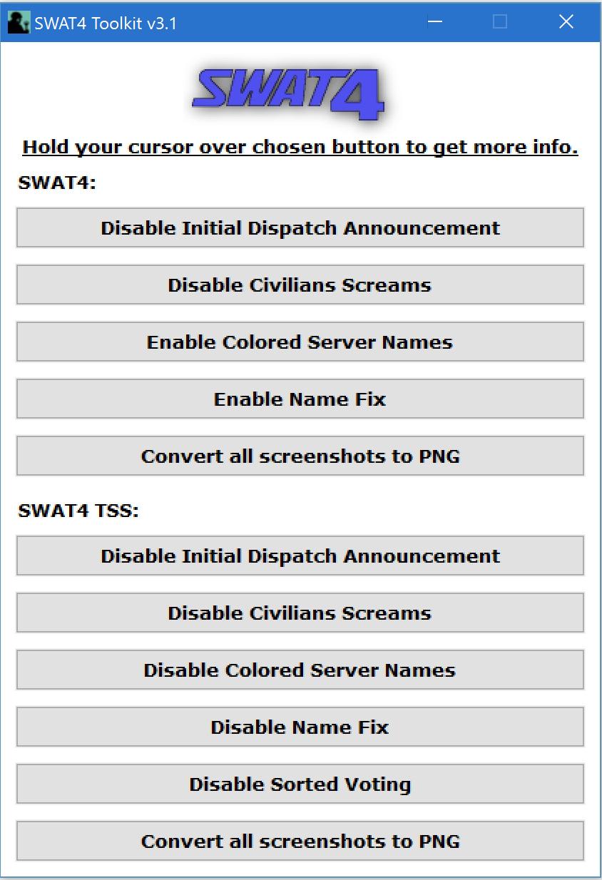 SWAT 4 Toolkit v 3.1